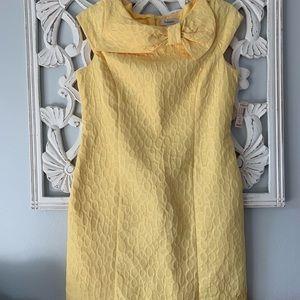 NWT Classic Yellow Dress with Bow